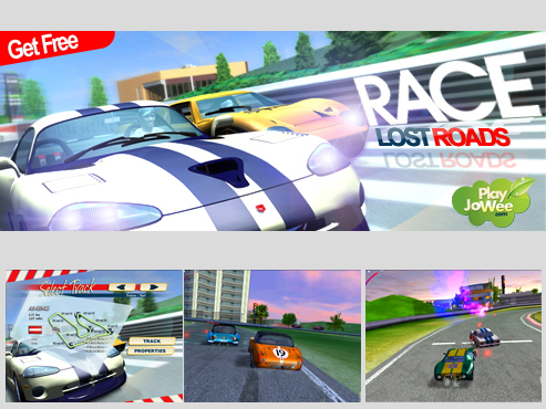 Click to view Race Lost Roads free 1.0 screenshot